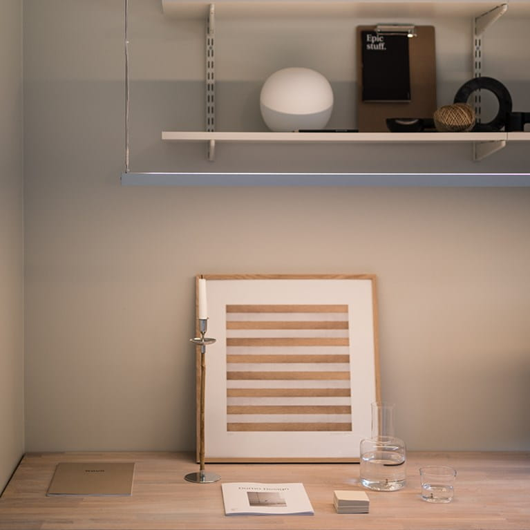 LEDstrip from Hidealite that illuminate the workarea at home at Johanna Haglund, Design Of.