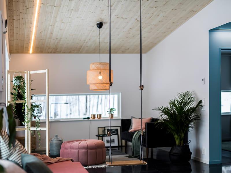 Olohuoneen valaisimet: luovia valaistusideoita asunnon ytimeen