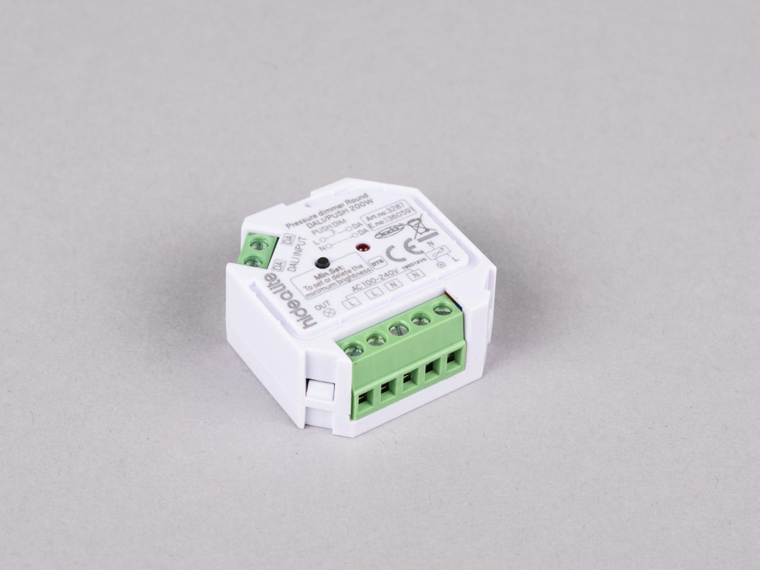 Push dimmer Round DALI/PUSH 200W