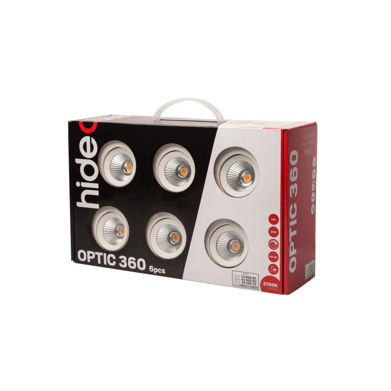 Optic 360 6-pack Vit 3000K