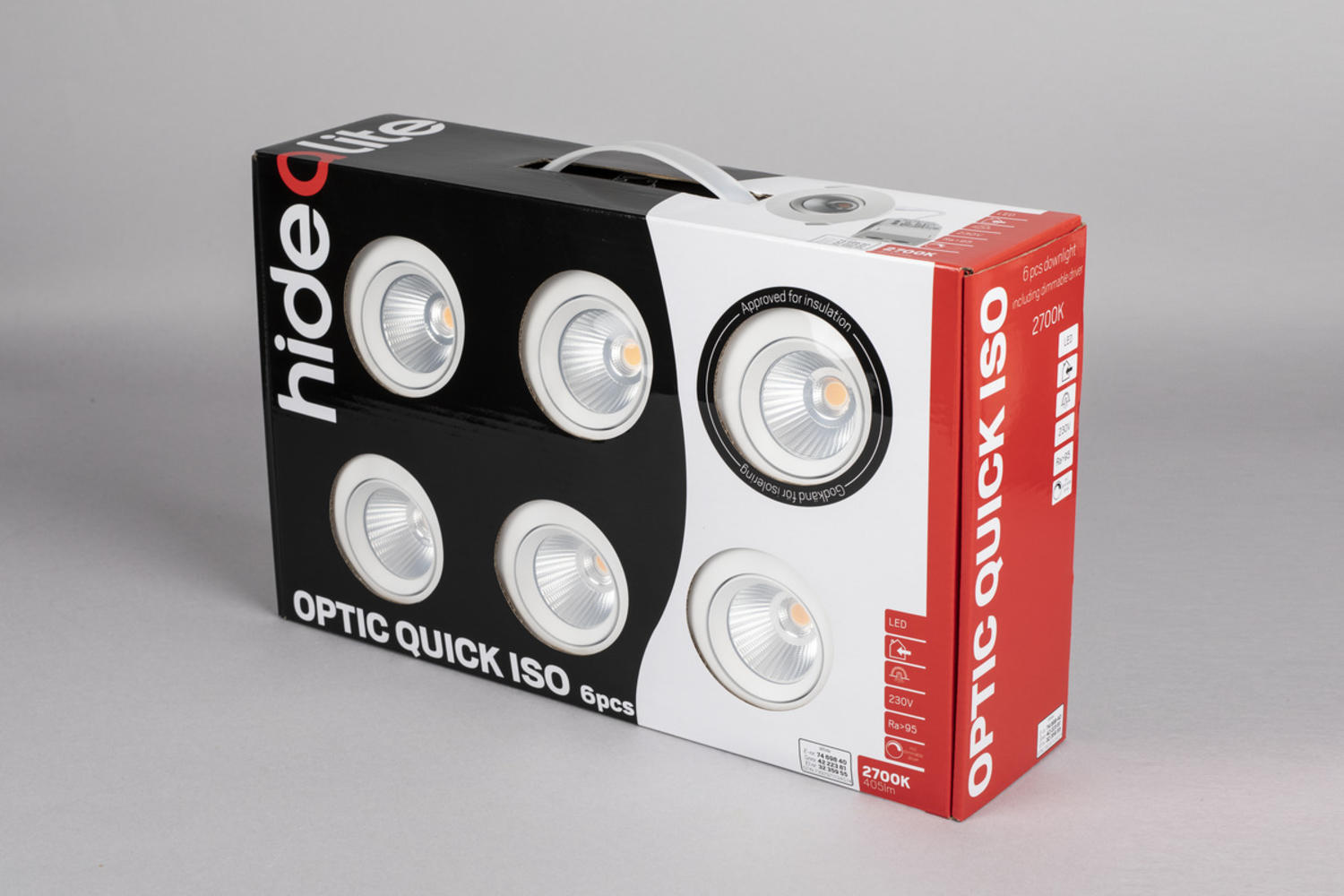 Optic Quick ISO 6-pack Hvid 2700K